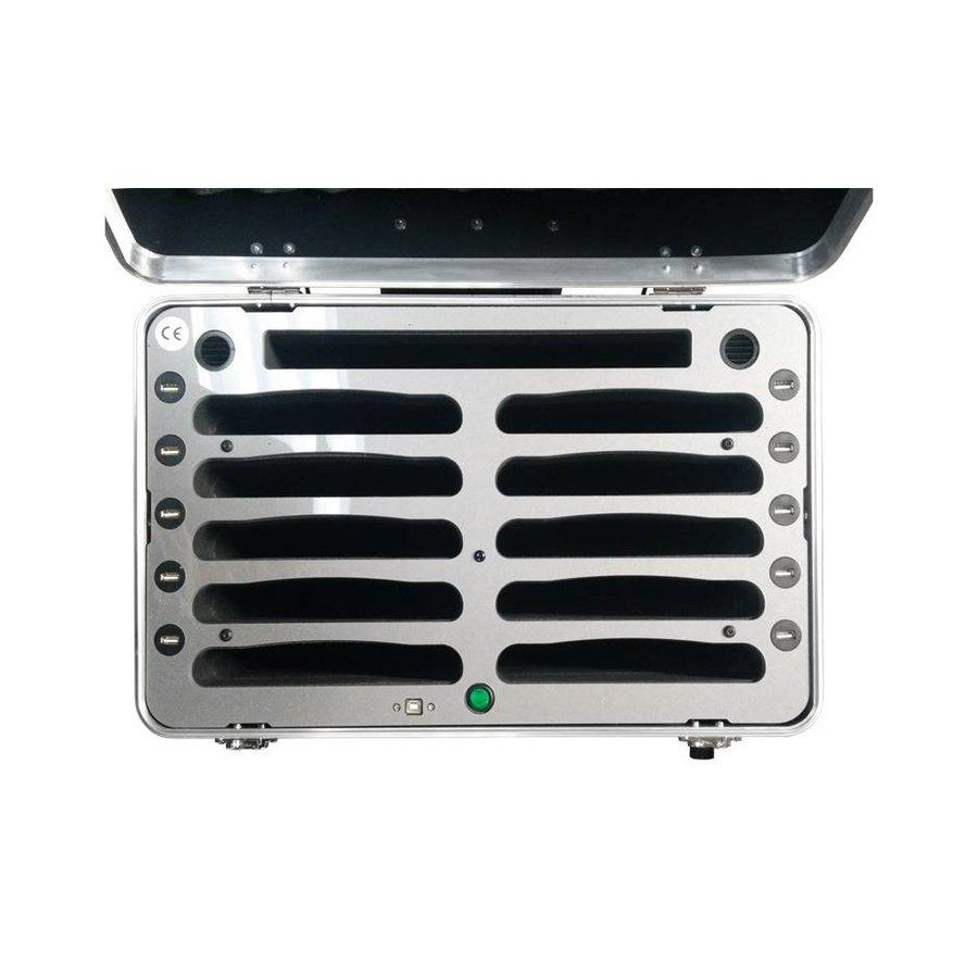 """iPad mini transportkoffer met laadfunctie voor 10 iPad mini en tablets tot 8""""; iNcharge C525-2"""