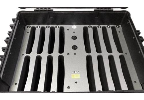 Parotec-IT iNsync C81 iPadkoffer; opslag en transport tot 16 iPads zonder en met beschermende case