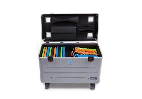 Parat opladen i20-KC trolley koffer voor 16-20 tablets, zonder vakken zilvergrijs