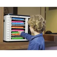 thumb-U-10, Cube voor 10 iPads en tablets met cijferslot, werkbladbracket, uitneembare laden-1