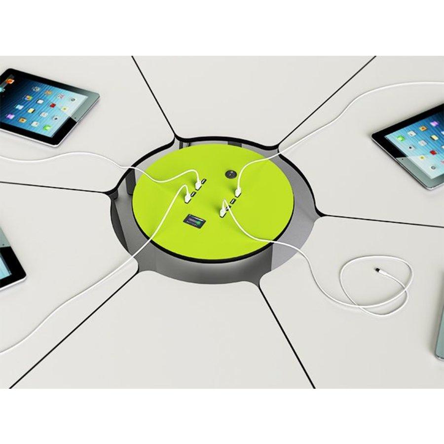 Bedraadde, oplaadbare BYOD powerHub met 6 stopcontacten, 6 Ethernet kabels-1