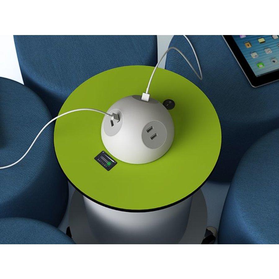 Bedraadde, oplaadbare BYOD powerHub met 6 stopcontacten, 6 Ethernet kabels-2