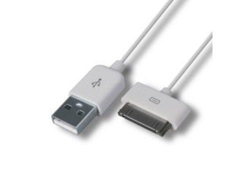 Parat laadkabel 1,0 m iPad USB - 30 Pin dock connector
