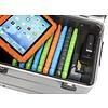 Parat Mobiel oplaadstation voor maximaal 10 iPads met kidscover of tablets, i10 trolley koffer zilvergrijs, zonder compartimenten