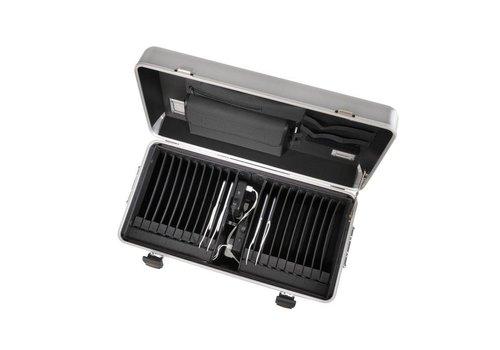 Parat i20 trolley koffer voor tablets met 20 vakken zilver