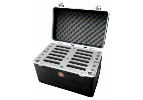 Parotec-IT opladen C457 iPad transportkoffer met laadfunctie voor 12 iPad mini en tablets tot 8""