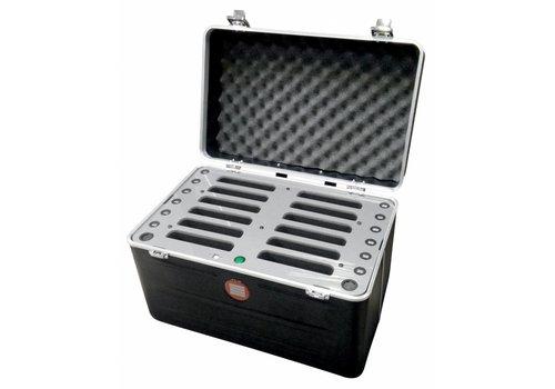 """Parotec-IT opladen C457 iPad transportkoffer met laadfunctie voor 12 iPad mini en tablets tot 8"""""""