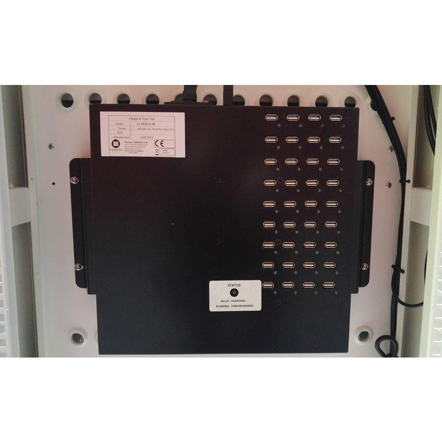 """afsluitbaar laadstation T24 met 2x 12 verticale schappen voor iPads 15.6""""-6"""