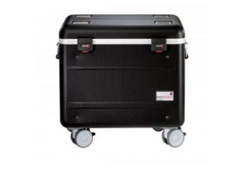 Parat C10 trolley koffer voor Chromebooks met 10 vakken in het zwart