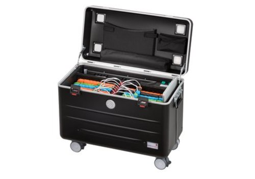 Parat opladen N6-6 trolley koffer met 6+6 vakken in het zwart