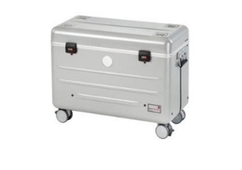 Parat i10S trolley case met 10 vakken voor ipads in het zilver