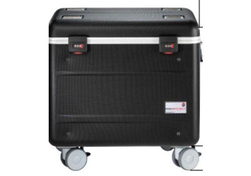 Parat opladen & syncen i10S koffertrolley voor 10 iPads met kidscover inclusief lightning kabels zonder vakindeling zwart