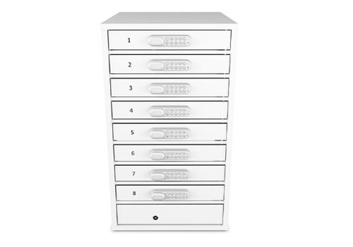 Zioxi oplaadlocker 8 vakken voor Macbooks/ Chromebooks/Notebooks/ tablets tot en met 15,6""