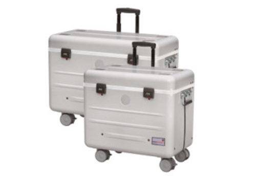 Parat opladen & syncen i16 koffertrolley voor 16 iPads inclusief lightning kabels met vakindeling zilvergrijs