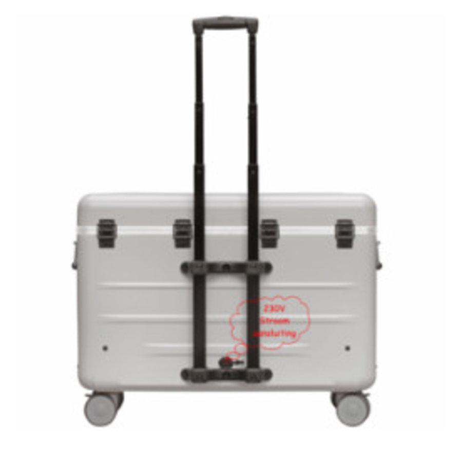 A16S trolley koffer met 16 vakken zwart-2