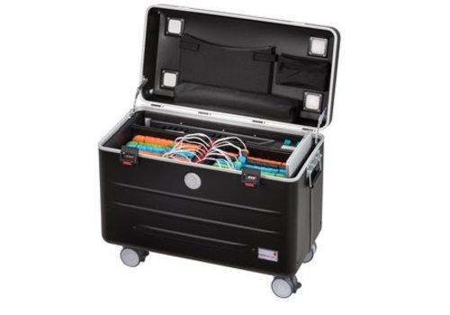 Parat U16S trolley koffer voor tablets in het zwart