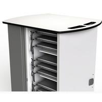 thumb-Macbook/Chromebook oplaadkar, 16 horizontale schappen, stekkerblok, kast is afsluitbaar met slot-3