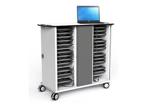 """Zioxi oplaadkast met wielen voor 32 Macbook Chromebook Laptop Tablet tot 14"""""""