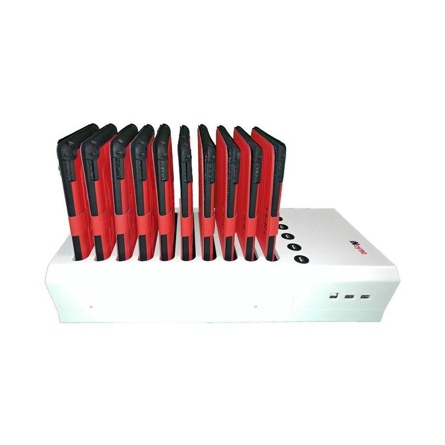 Docking van 10+6 iPads; iNsync DL10 Desktop laad & sync voor iPad en iPad Mini,-7