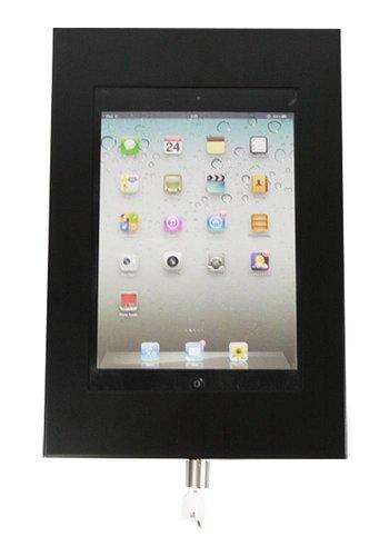 "Rgo Muurhouder zwart, plat tegen wandmontage iPad Pro 9.7/Air; Securo 9-11"""