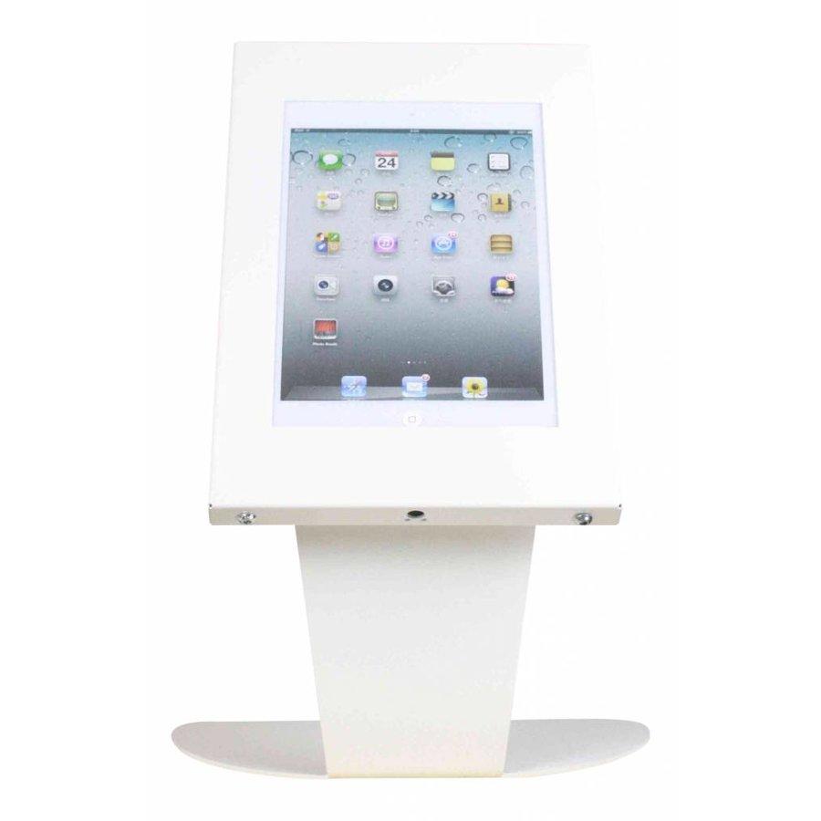 Tafelstandaard voor Apple Pro 9.7/ Air; Kiosk wit voor 9 tot 11 inch tablets