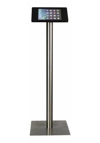 Rgo Vloerstandaard zwart/RVS, iPad Pro 9.7/Air; Fino in zwart, acrylaat met RVS/staal, voet