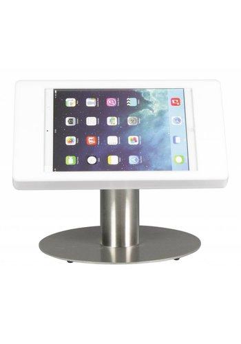 Tafelstandaard iPad Mini; Fino in wit kunststof met voet van RVS/staal
