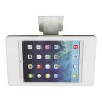iPad houder wit voor iPad Mini; Fino, solide houder voor wand-, tafel montage van gecoat staal met acrylaat behuizing inclusief slot