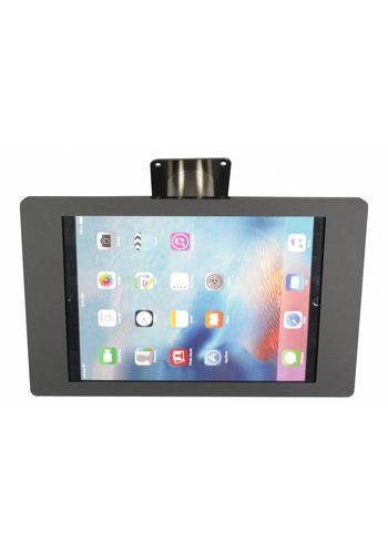 Tablethouder wand-,tafelmontage iPad Mini; Fino in zwart acrylaat met RVS/staal, voet