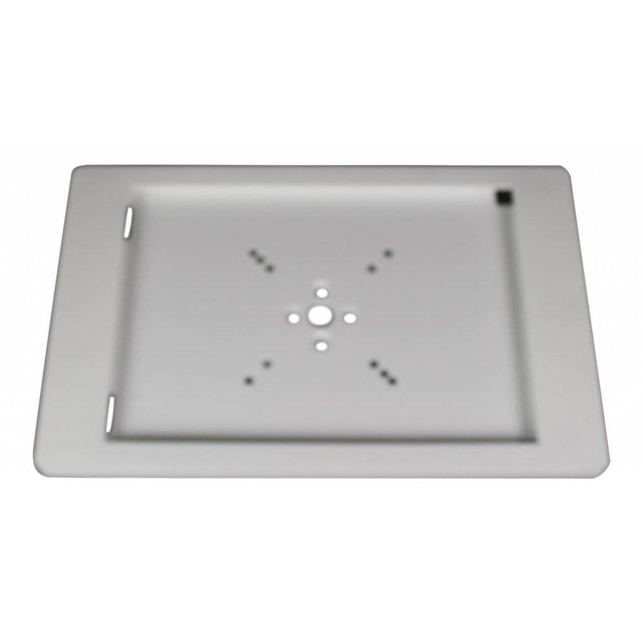 Vloerstandaard voor iPad Mini; Fino in wit acrylaat kunststof behuizing met RVS voet