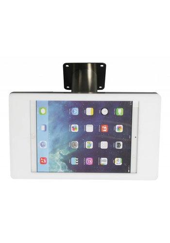 Tablethouder wand-tafelmontage iPad Mini Fino wit met RVS stalen voet