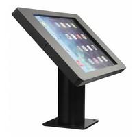 iPad houder zwart voor iPad Pro 9.7 iPad Air; Fino, stijlvolle houder voor wand-, tafel montage van gecoat staal met acrylaat behuizing inclusief slot