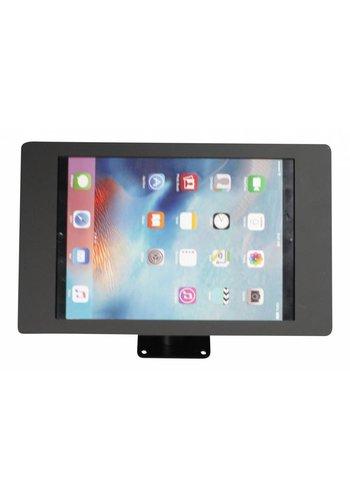 Tablethouder wand-,tafelmontage iPad Pro 12.9; Fino in zwart acrylaat met zwarte voet