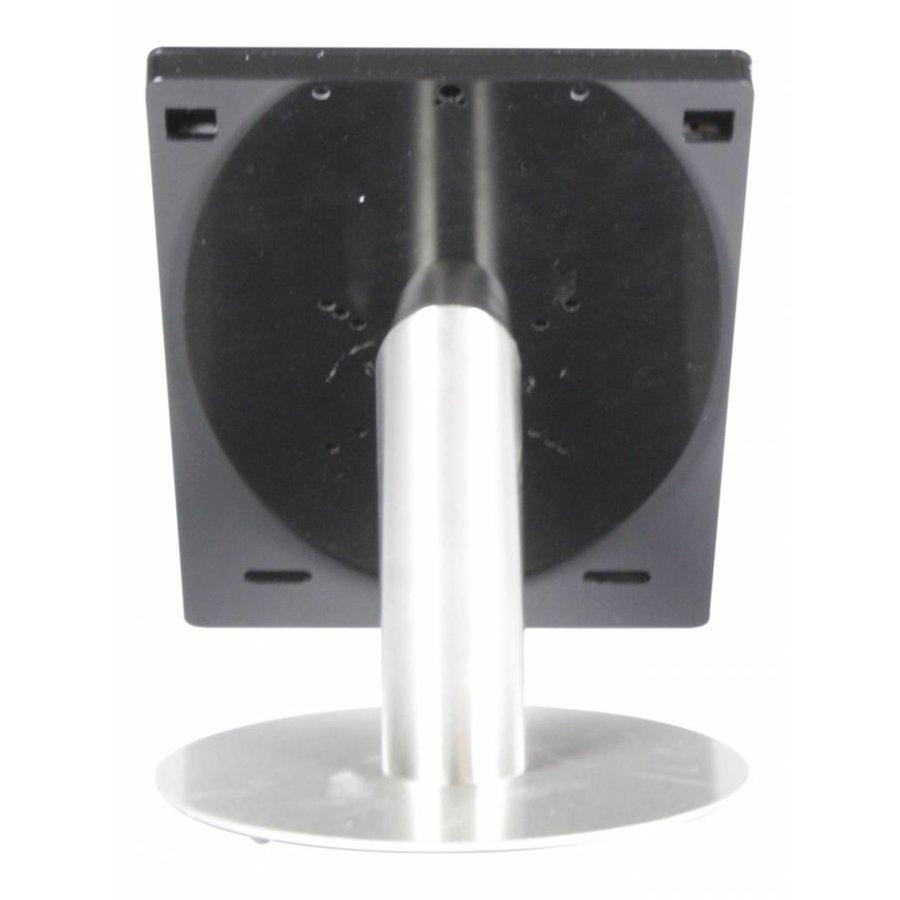 Tafelstandaard voor iPad Pro 12.9; Fino zwarte acrylaat behuizing met slot en voet van RVS geborsteld staal