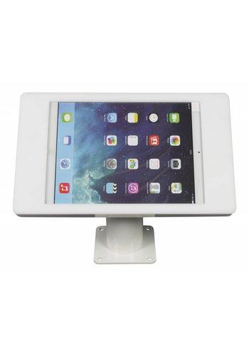 Tablethouder wand-,tafelmontage iPad Pro 12.9; Fino in wit kunststof met witte voet