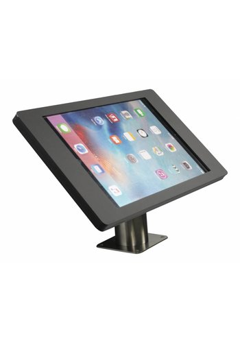 """Tablethouder wand-tafelmontage iPad 12.9""""  Fino zwart met RVS stalen voet voet"""
