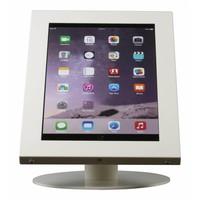 iPad 12.9 tafelstandaard wit, voor iPad Pro 12.9; Securo voor 12 tot 13 inch tablets; diefstalbestendige behuizing en voet van industrieel wit gecoat staal