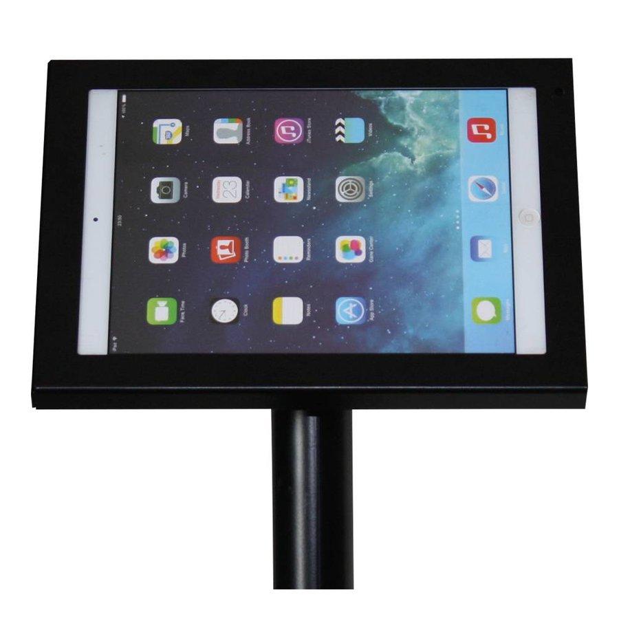 iPad standaard zwart voor Pro 9.7 en Air; Prezzo 9-10 inch, budgetstandaard van zwart gecoat staal