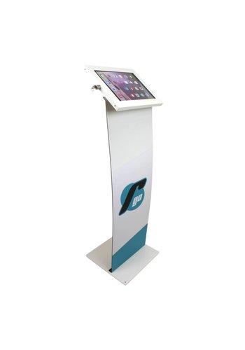 """Vloerstandaard display iPad 12.9"""" Securo 12-13"""" tablets wit"""