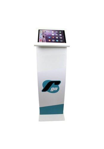 """Vloerstandaard display iPad 9.7"""" & 10.5"""" Securo 9-11"""" tablets wit"""
