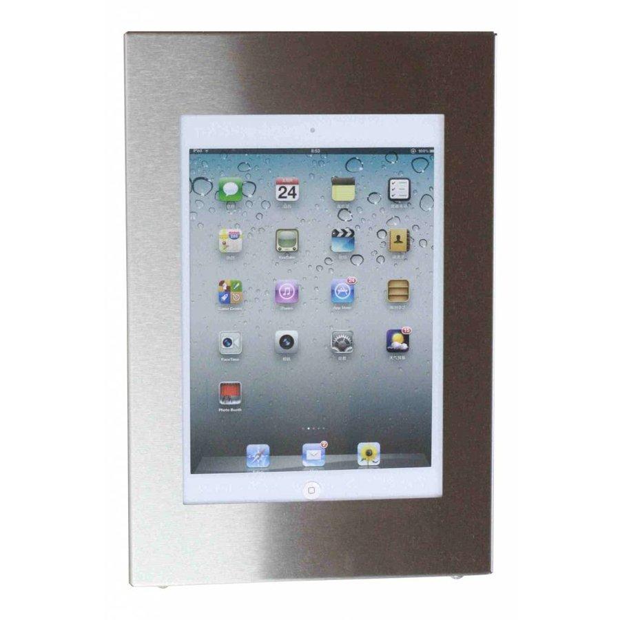 Wandhouder voor iPad, iPad Pro 12,9; Flessibile 5 kleuren houder op zilvergrijze aluminium zwenkarm