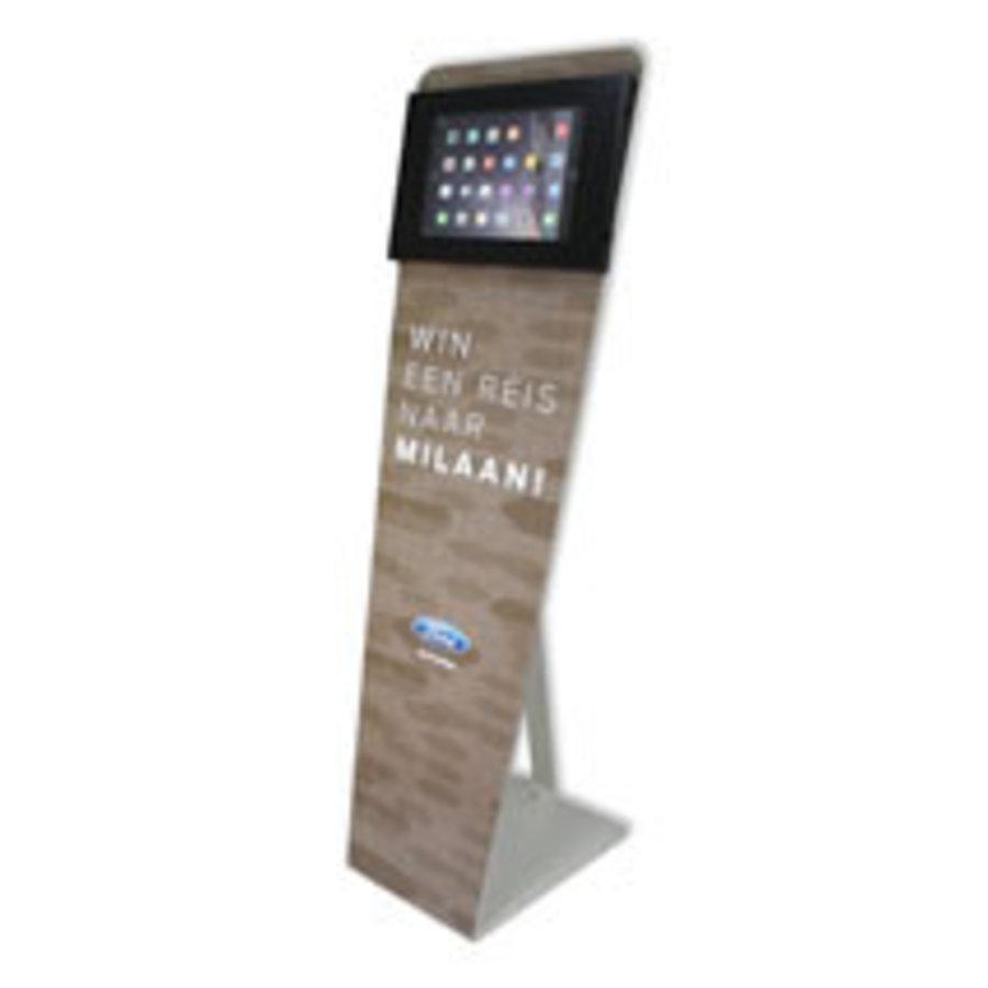 Vloerstandaard voor iPad Pro 12.9; Kiosk, wit, voor 12 en 13 inch, tablets