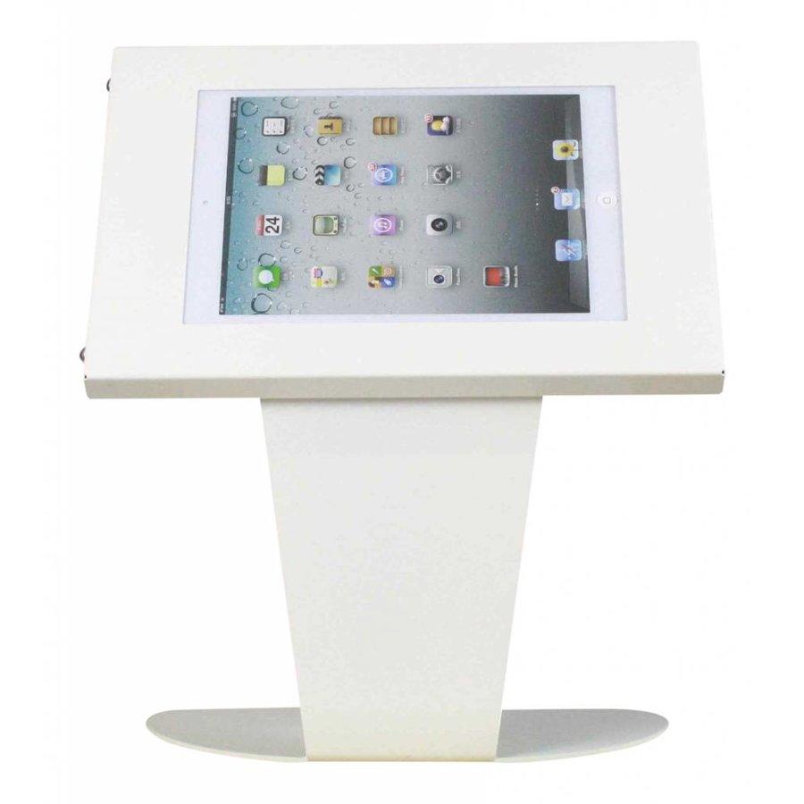 Tafelstandaard voor Apple Pro 12,9; Kiosk wit voor 12 tot 13 inch tablets