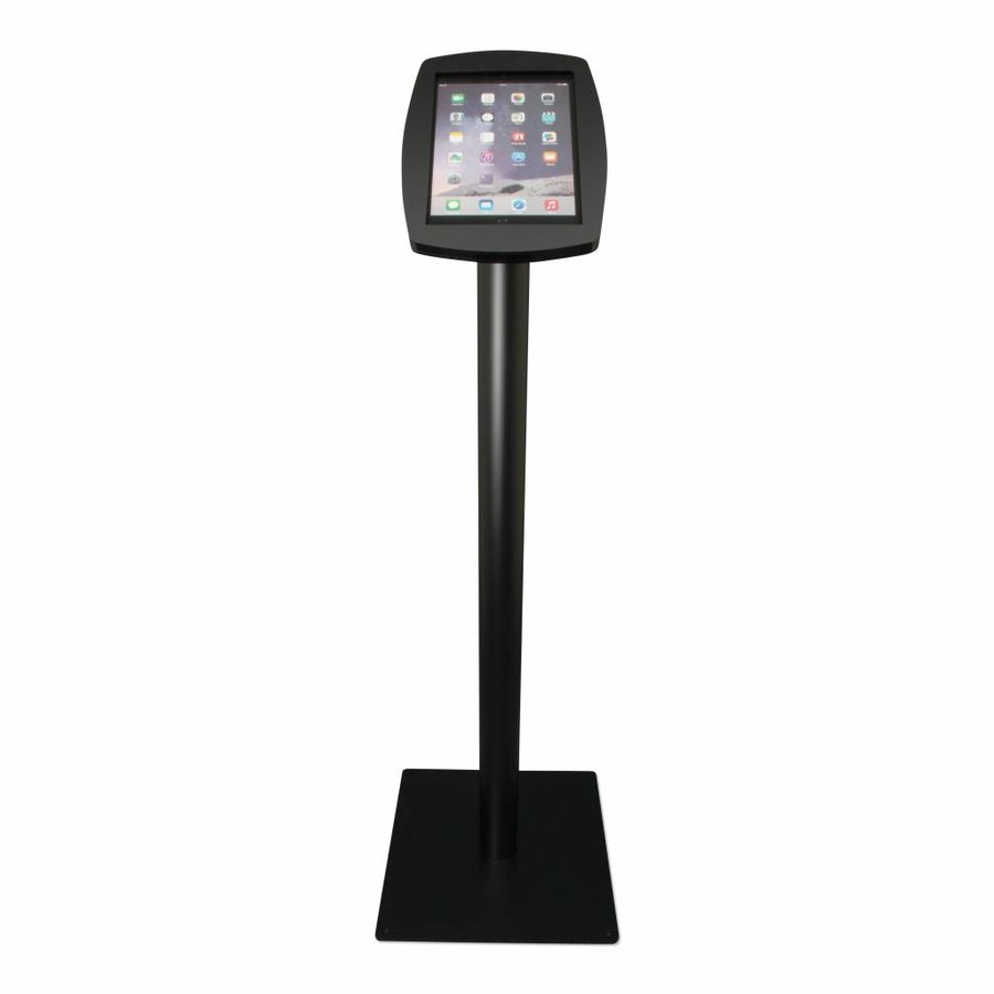 iPad 2017, iPad Air, Air 2/ iPad Pro 9.7-inch, stijlvolle stabiele vloerstandaard Lusso, inclusief slot, zwart