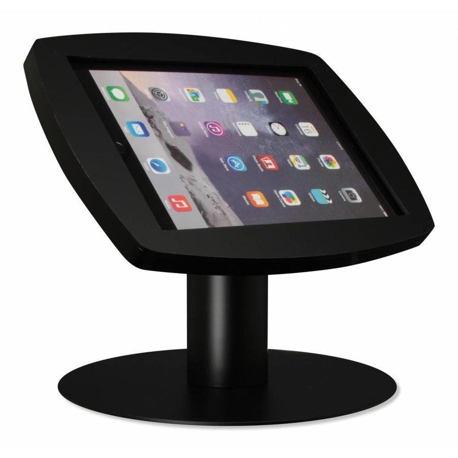 iPad 2017, iPad Air, Air 2/ iPad Pro 9.7-inch, stijlvolle stabiele tafelstandaard Lusso, inclusief slot, zwart