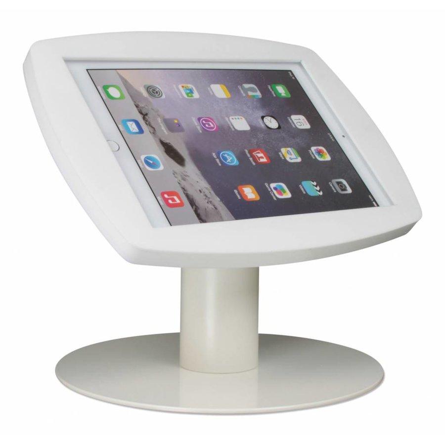 iPad 2017, iPad Air, Air 2/ iPad Pro 9.7-inch, stijlvolle stabiele tafelstandaard Lusso, inclusief slot, wit
