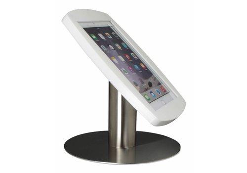 """Tafelstandaard iPad 9.7"""" Lusso wit met RVS stalen voet"""