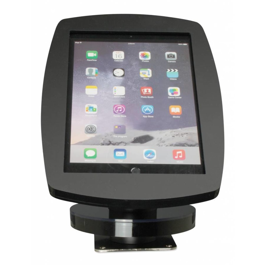 iPad 2017, iPad Air, Air 2/ iPad Pro 9.7-inch, iPadhouder wand/tafelmontage Lusso, inclusief slot, zwart
