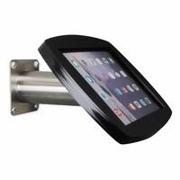iPad 2017, iPad Air, Air 2/ iPad Pro 9.7-inch, iPadhouder wand/tafelmontage Lusso, inclusief slot, zwart/RVS