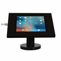 iPad 9.7/10.5 tafelhouder zwart, bevestigd aan tafel voor Air, iPad 2017 en Pro 10,5-inch; Securo 9-11 inch; afgesloten behuizing en voet van zwart gecoat staal